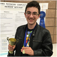 Sean (Grade 8) takes First Place at SF Bay Area Science Fair